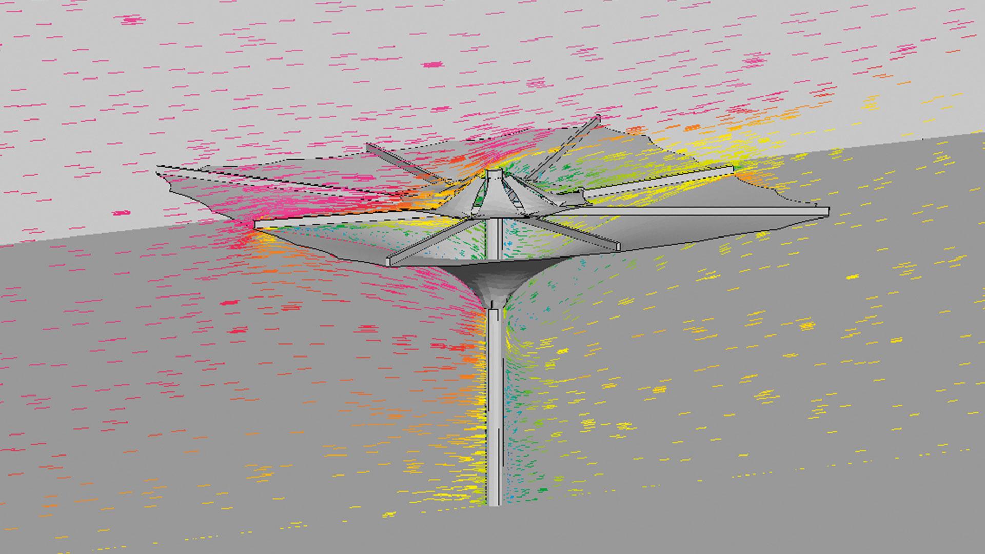Gestaltung im Einklang mit den Naturgesetzen - Der wissenschaftliche Designansatz kommt bei SL Rasch auch auf der Materialseite zum Einsatz: Feinkörniger Stahl beispielsweise ist viermal stärker als gewöhnlicher Baustahl und ermöglicht sehr schlanke Schirmarme und kompakte Details.