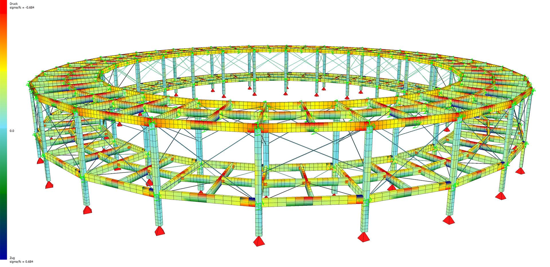 Moderne Tragwerksplanung - Bei SL Rasch arbeiten Architekten und Tragwerksplaner Hand in Hand – nur so lassen sich komplexe Strukturen wie die Ringbrückenkonstruktion in Mekka aus Kohlefaser-Verbundwerkstoff planen und realisieren.